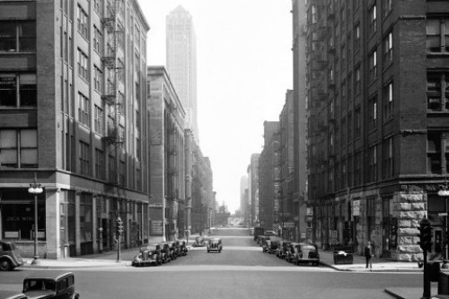 1937--Market Street (Wacker Drive) @ Jackson, view north